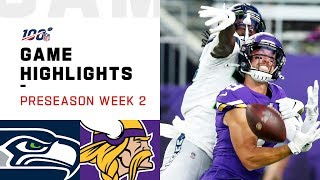 Seahawks vs. Vikings Preseason Week 2 Highlights | NFL 2019