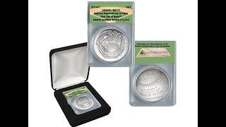 2014 MS70 2014 Baseball HOF Silver Dollar