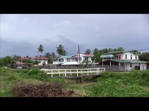 Guyana, Catherina Gas Station Street view, walking , cross last bridge( HD)