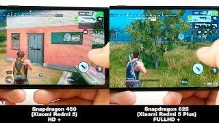 Xiaomi Redmi 5 (Snapdragon 450) VS Xiaomi Redmi 5 Plus (Snapdragon 625) В ИГРАХ! FPS + НАГРЕВ