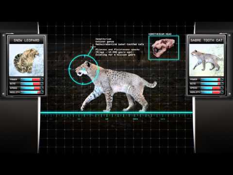 Saber Tooth Cat vs Snow Leopard