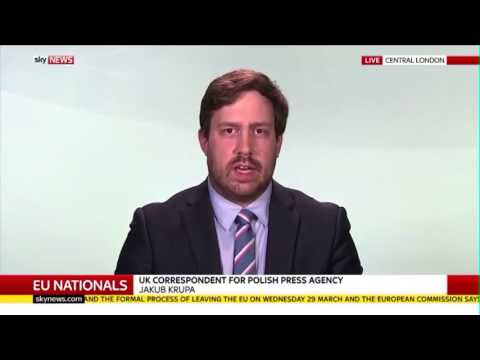 Dr Alan Mendoza on Sky News discussing consequences of Brexit for Eastern Europeans living in UK