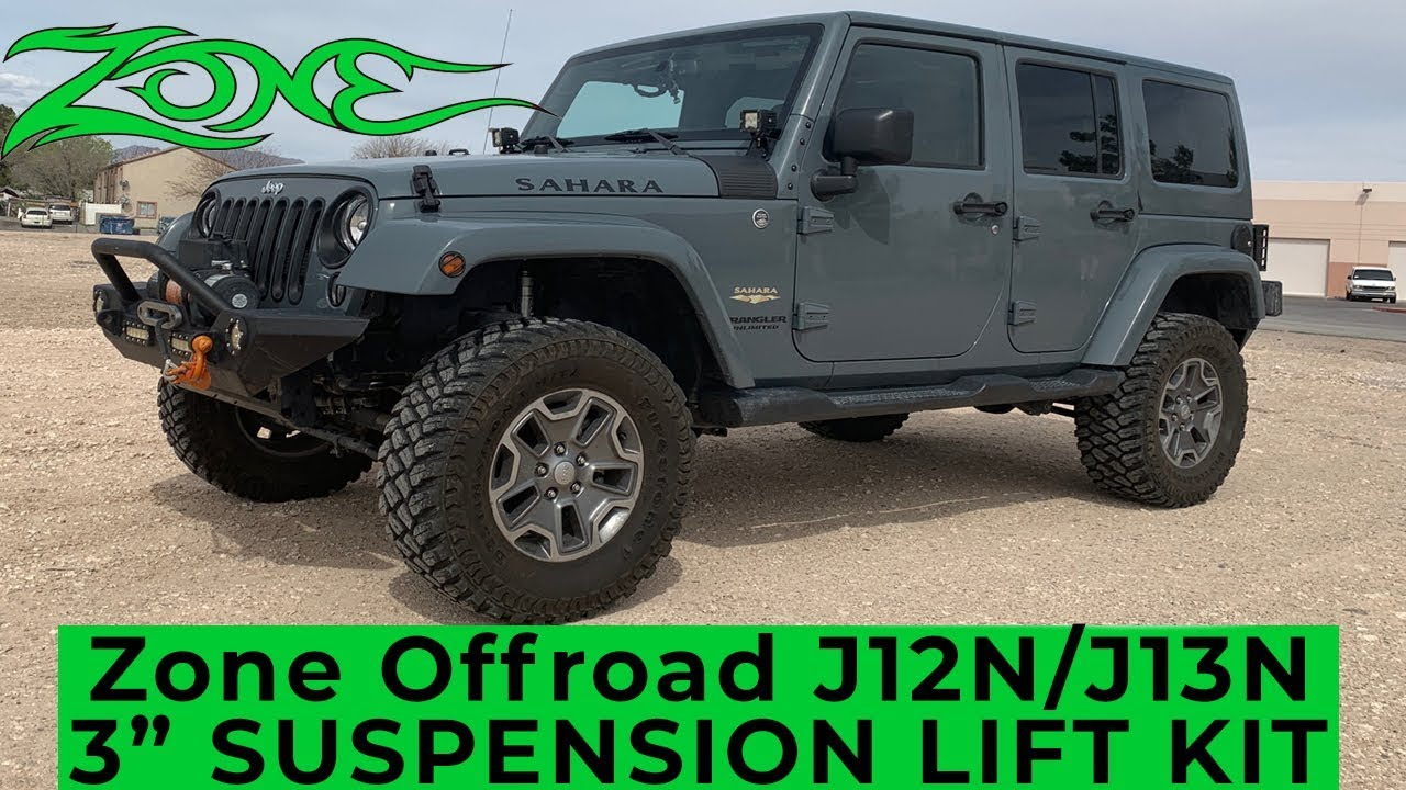 Zone Offroad J12n J13n 3 Suspension Lift Kit Installed On A 2017
