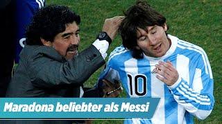 Darum ist Diego Maradona beliebter als Lionel Messi