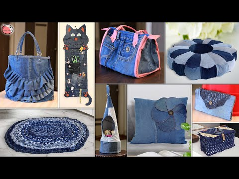 12 Personal & Home Useful ! Amazing Craft With Old Jeans