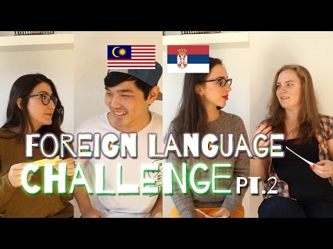 [Language] Foreign Language Challenge Pt. 2 (MY, RS)