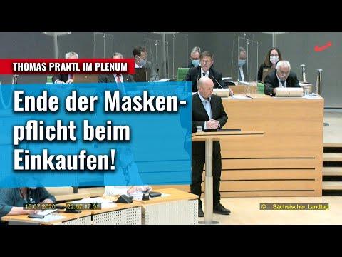 Ende der Maskenpflicht beim Einkaufen! Thomas Prantls Redebeitrag im Plenum