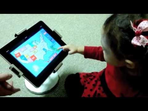 Megan Usa Map Puzzle Ipad App 50 States Of The Usa Us Geography My Baby Age 1 Year And 7 Months
