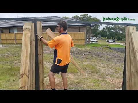 Metal Frame Fencing Installation