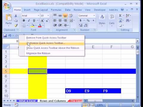 how to create a basic spreadsheet in excel 2007