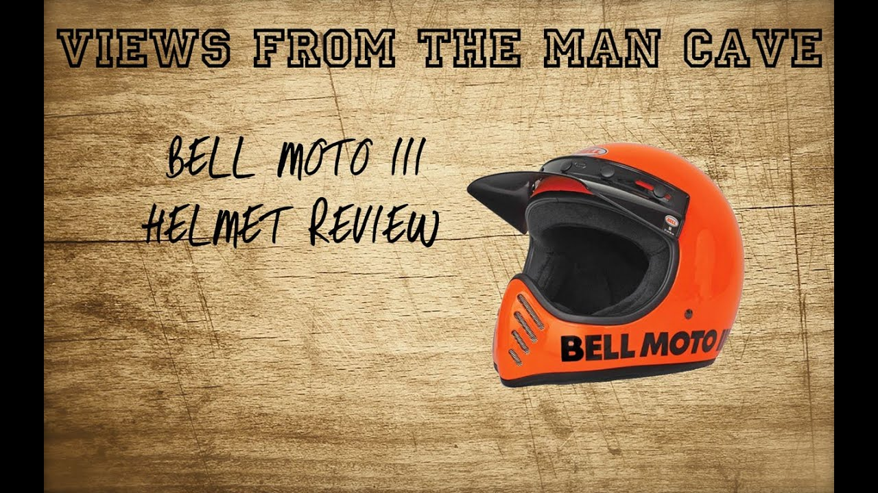 Man Cave Review : Exclusive new bell moto 3 helmet review youtube