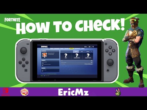 HOW TO CHECK YOUR FORTNITE STATS ON NINTENDO SWITCH! / MOBILE IOS
