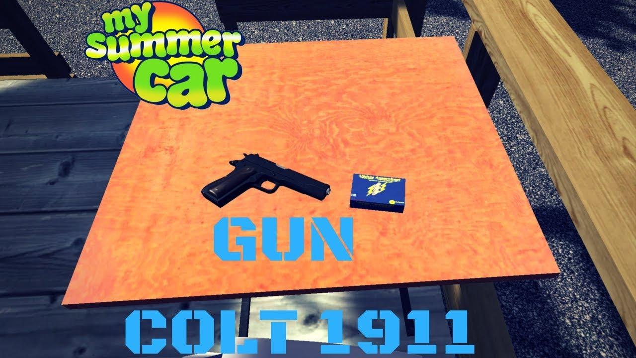GUN - Colt 1911 + localization - My Summer Car #49 (Mod) - clipzui com