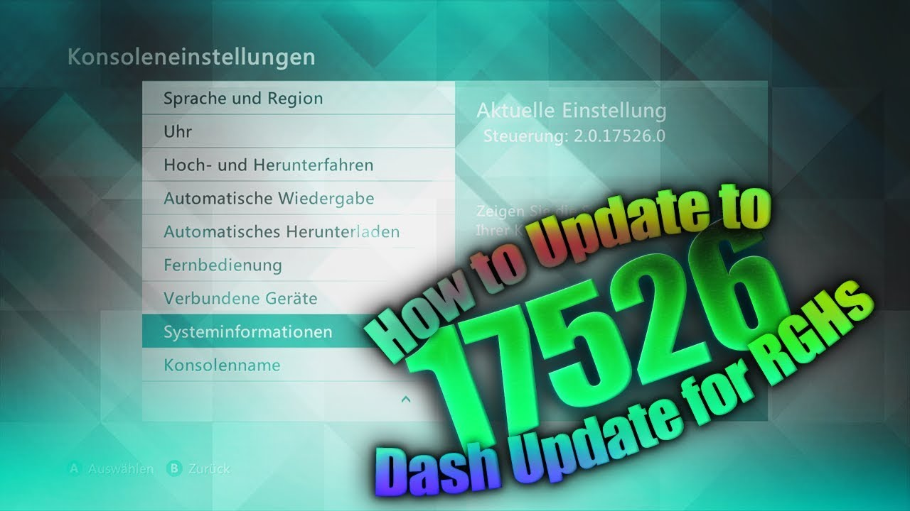 How to Update to 17526 | Dash and Avatar Update | RGH/JTag | 2018 | Tutorial