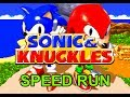 Sonic & Knuckles Speed Run (in 11 minutes, 57 seconds!) Knuckles any%