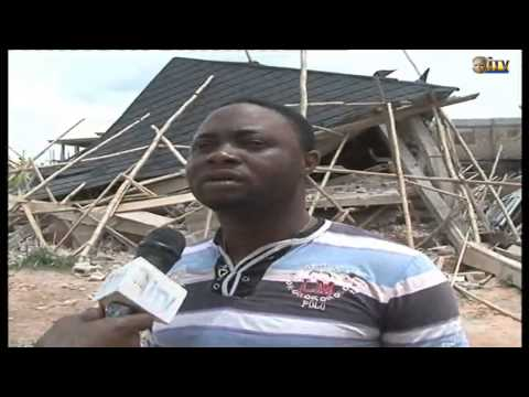Storey building under construction collapses in Benin