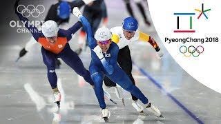 Lee Seung-Hoon wins the 1st Speed Skating mass start | Day 15 | Winter Olympics 2018 | PyeongChang