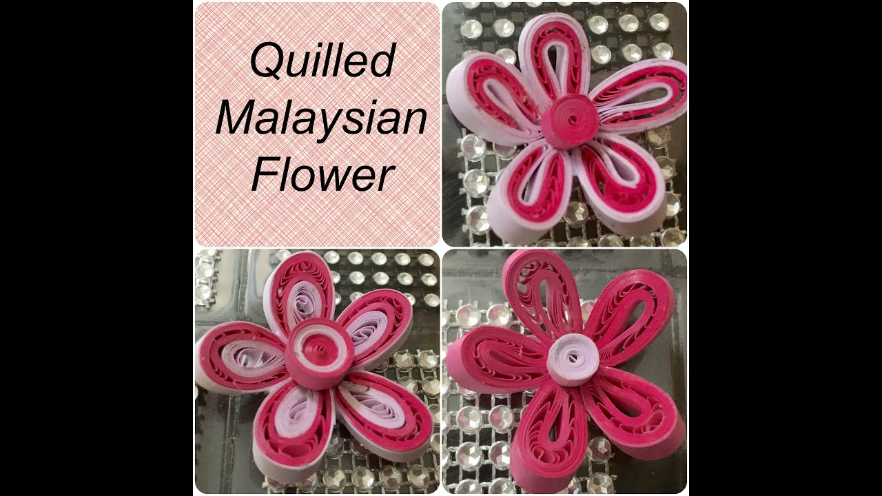 Papercraft Quilling Malaysian Flower tutorial - 3 Different Variations #8