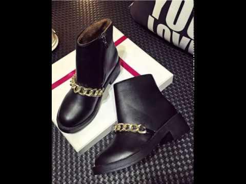 Metal chain short boots.avi