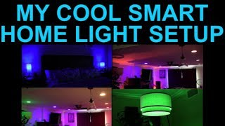 my cool smart lighting setup with voice control using alexa wifi recessed downlights and lightbulbs