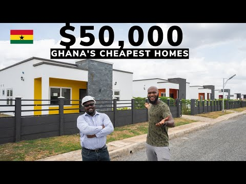 The CHEAPEST $50,000 HOMES in Accra Ghana! (crazy cheap houses)