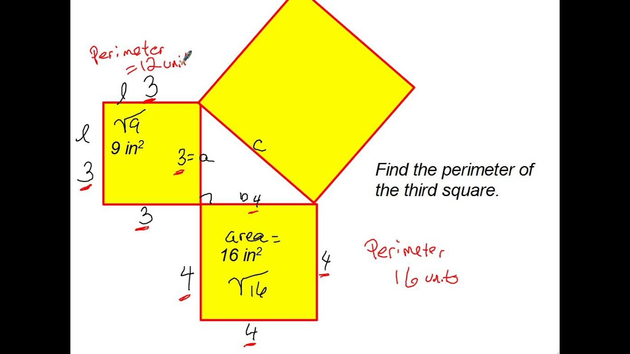 how does the pythagorean theorem model a relationship