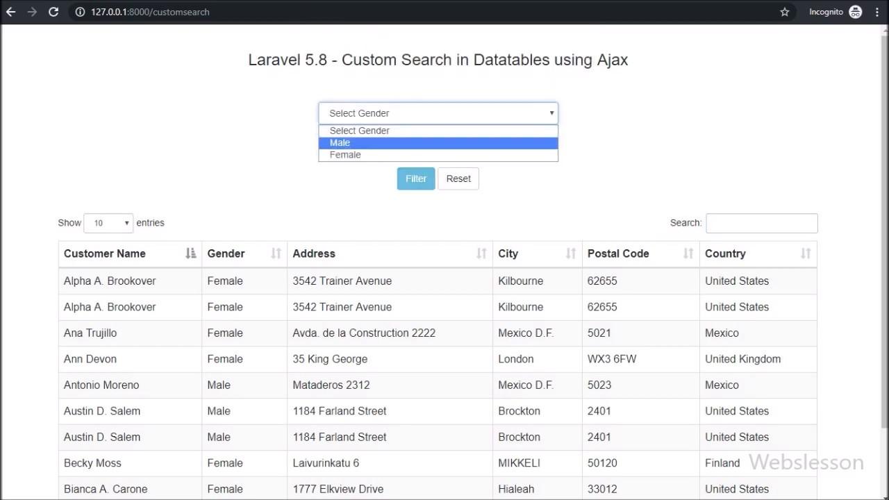 Webslesson | PHP, MySql, Jquery, AngularJS, Ajax, Codeigniter Tutorial