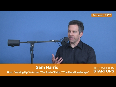 "Sam Harris on meditation: ""changing degree of negative thoughts is as good as the changing world"""
