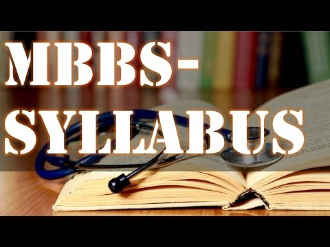 SYLLABUS OF MBBS