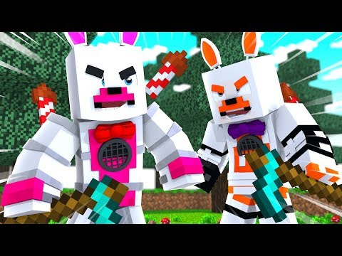 Funtime Foxy And Lolbit Team Up In Quakecraft (Minecraft Fnaf Roleplay Adventure)
