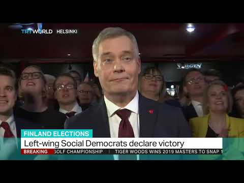 Finnish Social Democrat leader Rinne declares victory in election