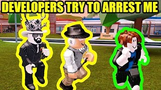 Roblox EGG HUNT DEVELOPER tries to ARREST ME | Roblox Jailbreak