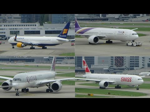 [HD] 20+ Minutes of wonderful Planespotting @ Zurich Airport | Ft: A350, 777, A330, CS100, A320, 737