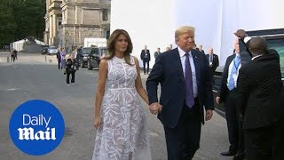 Trump and Melania join world leaders for Brussels cocktail party - Daily Mail