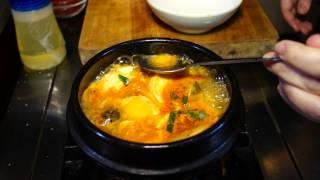 how to make hot soondubu jjigae pt 2 of 2 spicy soon tofu stew