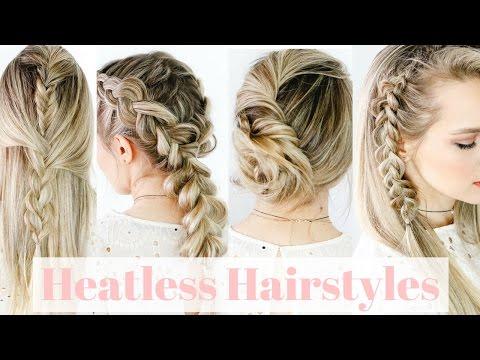 Heatless Hairstyles On Straight Hair! - KayleyMelissa