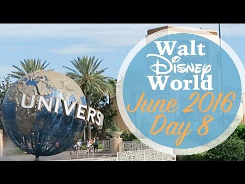 Walt Disney World Day 8 Vlog | June 2016 | Universal Studios & Islands of Adventure