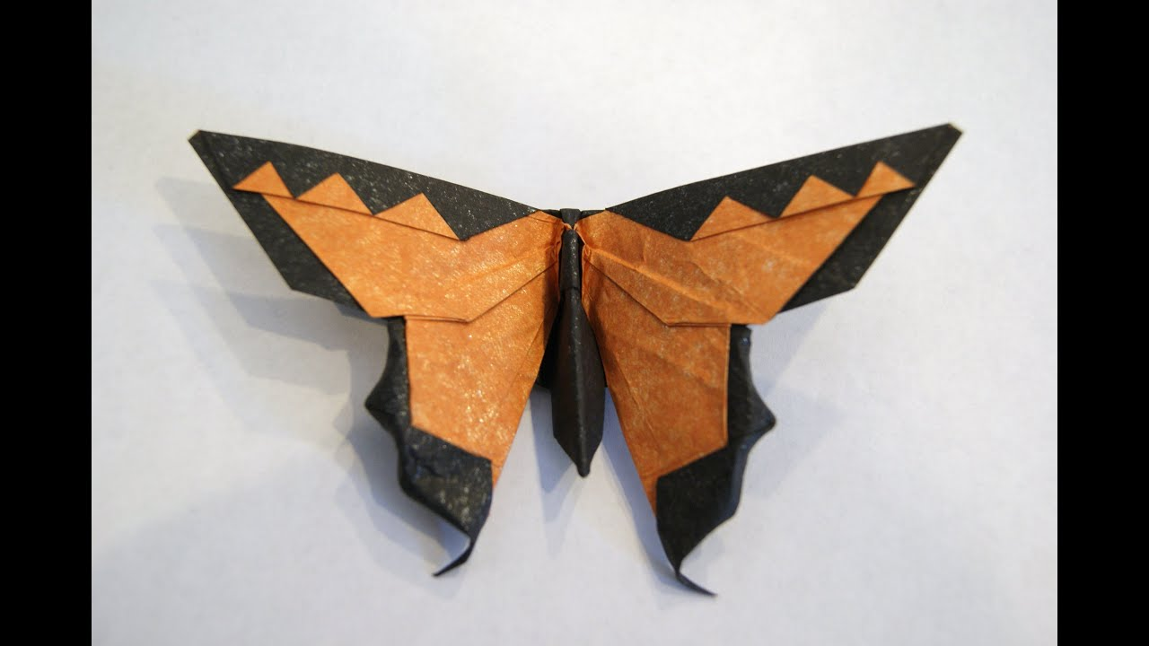 Intermediate Origami Butterfly (HD) - YouTube - photo#1