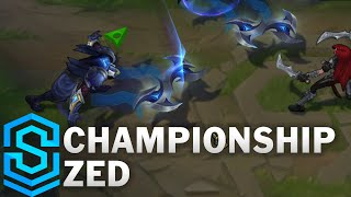 Championship Zed Skin Spotlight - Pre-Release - League of Legends