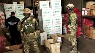 video: Watch: Ukrainian border forces raid face mask smuggling operation