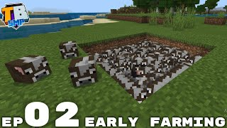 Early Farming & Mob Head Attempts - Truly Bedrock Season 2 Minecraft SMP Episode 2