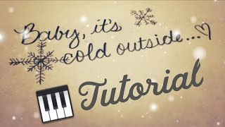Baby It's Cold Outside (Loesser) [Intermediate Piano Tutorial]