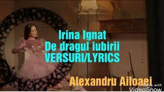 Ioana Ignat- de dragul iubirii(VERSURILYRICS)