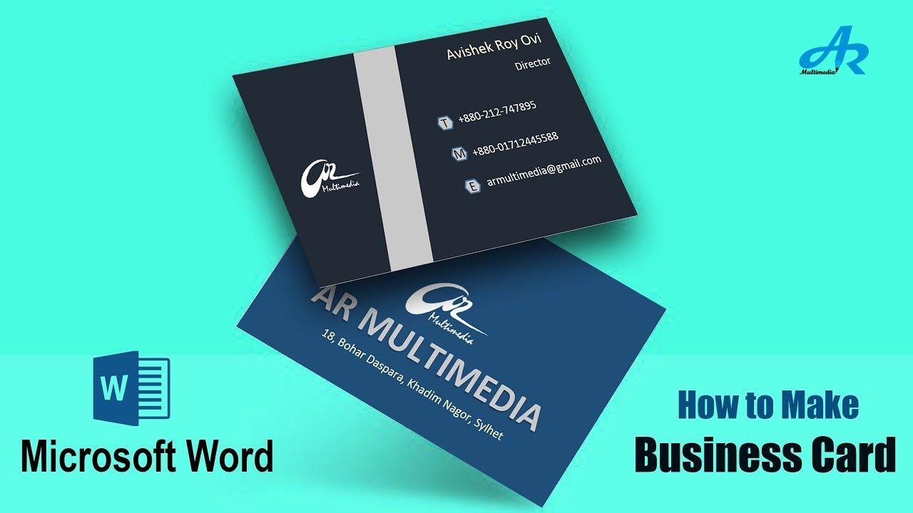 Business Card Design In Microsoft