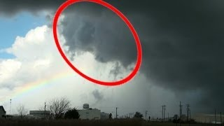 Amazing Face Of God Appears With Rainbow As Tornado Barely Misses MidWest Town Nov. 17, 2013