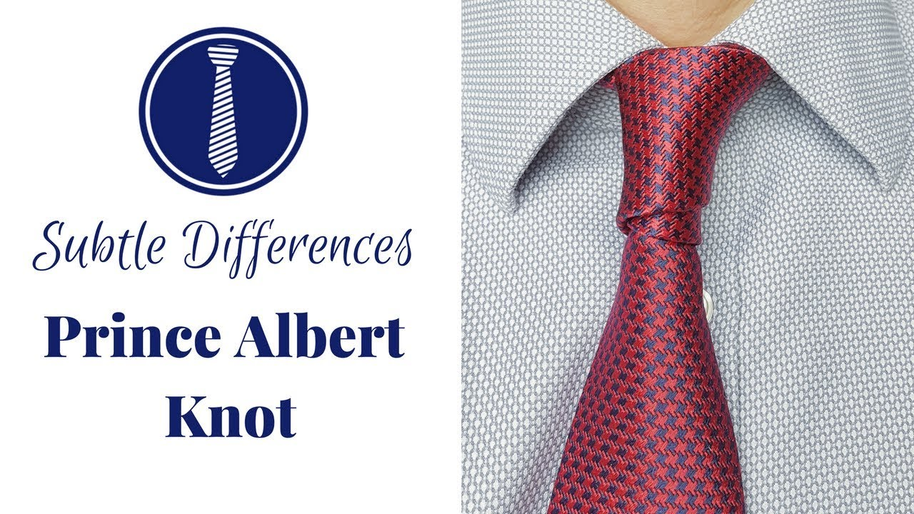 f7590b6bd2e How to tie a tie - Prince Albert Knot (double four-in-hand) - Subtle  Necktie Knots