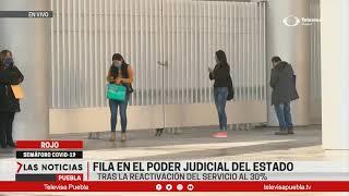 Fila en el poder judicial del estado | Las Noticias Puebla