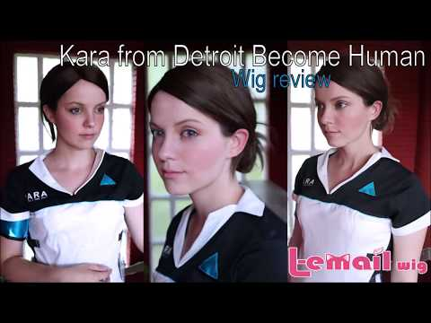 Cosplay Wig Review Kara from Detroit Become Human from L-email / Wig suplier by Shiro Ychigo