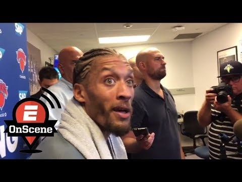 Michael Beasley seems very excited about joining the Knicks | OnScene | ESPN
