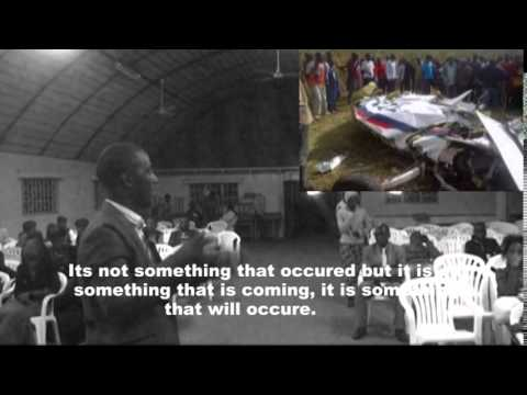 ZAMBIA AIR FORCE PLANE CRASH PROPHECY- PASTOR WILLY MUNYETA